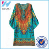 Custom ladies traditional dresses printed casual dress form China garment factory