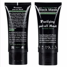 Deep Cleansing purifying peel off Black mud Facail face mask Remove blackhead facial mask 50ml