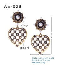 high quality wholesale alloy women fashion earring peal earring