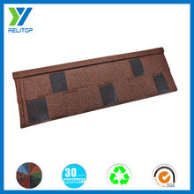 Stone coated coffee brown cheap price best selling roofing in nigeria