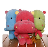 Cheap wholesale hippopotamus plush toy, custom soft stuffed animal