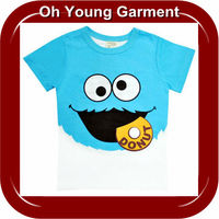 Custom Children's 2-6 years cotton lovely cool letter color printed t shirt