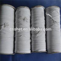 flat elastic rubber for rolls Fabric rubber flat elastic roll