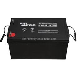 manufacturer Long life Rechargable battery Solar Power Storage Battery 12v 200ah Gel Battery