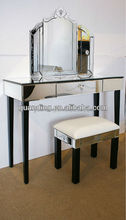 2015 latest modern set mirrored dressers with mirror and table