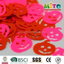 Wholesale party decoration pink pumpkin shape confetti
