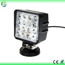 Square and round led work light offroad 4x4 15w 18w 24w 27w 42 led work light