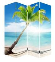 Landscape Four panel room divider/Four panel room divider for hotel