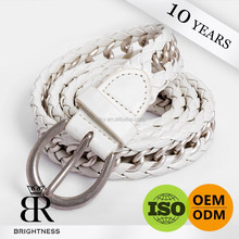 Fancy genuine white leather chain belt for ladies H1-80013