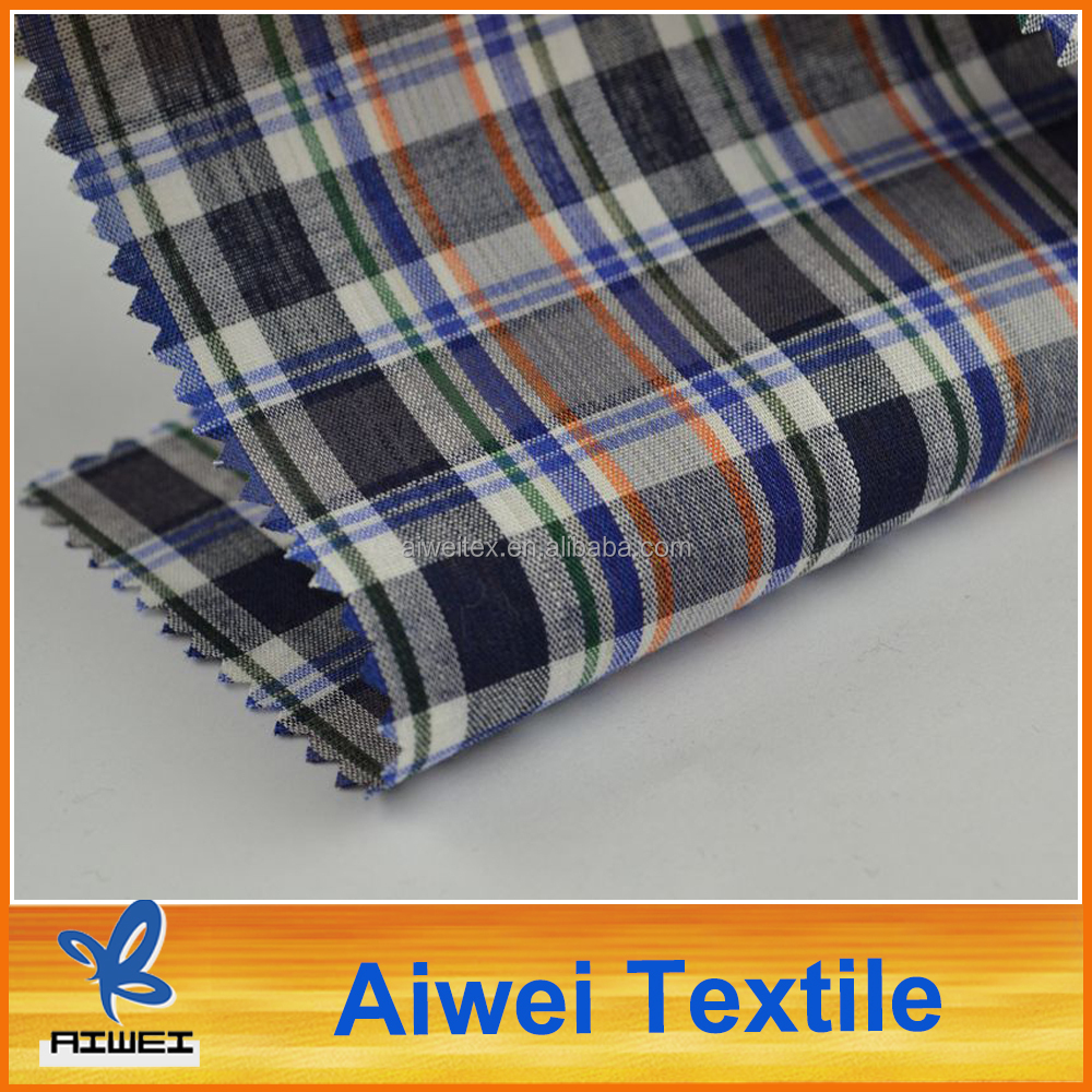 Cotton Yarn Dyed Plaid Designs Quilt Fabric Manufacturers