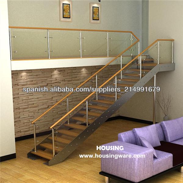 Escalera de madera moderna de la pisada escaleras - Escaleras de madera modernas ...