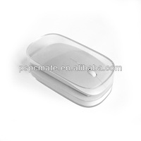 Slim wireless bluetooth mouse with plastic crystal box