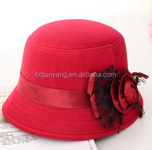 wool felt fedora hat for ladies in winter/lovely children felt hats/felt hat cone