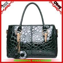 2015 wholesale exported trendy leather designer women handbag manufacture