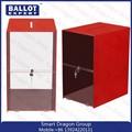 Customed claro acrílico caixa de doação / urna / acrílico caixa de voto