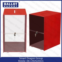 Customed Clear Acrylic Donation Box/ballot box/acrylic vote box