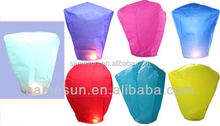 Mixed colored sky lanterns