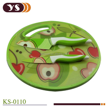 3-pieces Non-stick coating knife with round patterned board