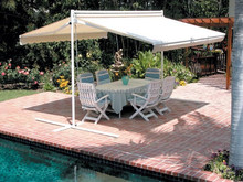 Light Weight Beach Double Retractable Aluminum Metal Frame Free Standing Awning