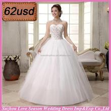 OYSC62-66 under 100 dollar ready to ship organza ball gown sweet women wedding dress