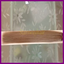 Nature color 100% human hair top quality double drawn hand tied weft virgin hair