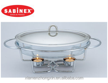 oval glass chafing dish Christmas birthday party food warmer buffet chafer buffet warmer buffet tray