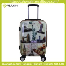 ABS+PC Hard Trolley Luggage with colourful heart printing