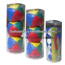 B357 Stuffed juggling ball set with PVC tube packing/hacky sack/sand ball