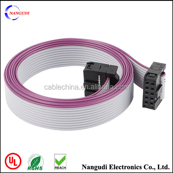 Ribbon Cables Cable Assembly : Pin idc ribbon flat cable ul awg
