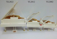 YL2022/2012/2002 Rotating Hand Crank Dancing Santa Piano ShapeMusic Box