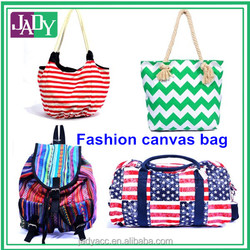 Foldable fashion canvas handbags