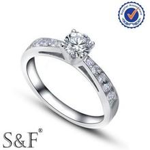 un carato silver anello di diamanti da sposa