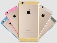 Fashion Glitter Bling Shining Soft TPU Back Case for iPhone 6