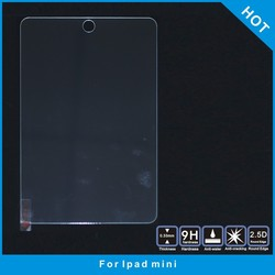 9H 2.5D Tempered Glass For ipad mini ,tempered glass screen protector for ipad mini