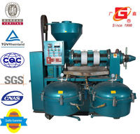 mini crude oil refinery flax seeds oil heating screw press medium oil making machinery with filter