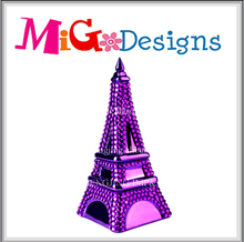 Hot Seller Ceramic Purple Diamond Eiffel Tower Bank Gifts