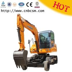 Made in China X8 wheeled crawler excavator