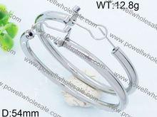 New sparkling stainless steel earrings allergy