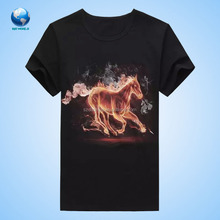 Shenzhen big world 3D Animal head t shirt sublimation & t-shirt & 3D skeleton t shirt printing machine prices