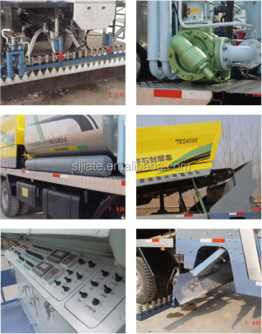fiber asphalt chip three materials sealling machinery for sales