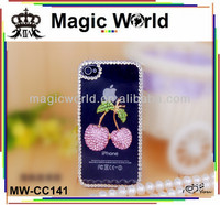2014 fashion cherry mobile rhinestone phone case for samsung galaxy note 3