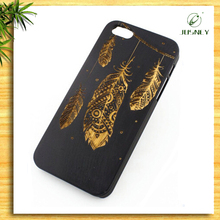 Wholesale custom black bamboo case with design