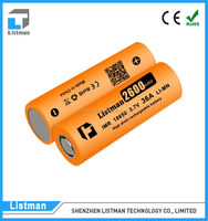 battery prices in pakistan imr li-mn 18650 2600mah 18650 battery li-ion 2600 rechargeable