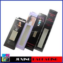 2013 popular wholesale white card hair box packaging