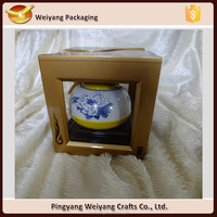 Hot sellingTea pot display case boxes wooden packing boxes with clear window