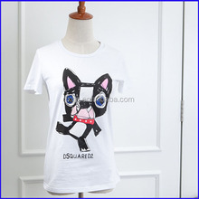 latest fashionable 100% cotton import clothing from china ladies t shirt with pocket
