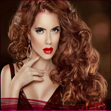High Feedback two tone ombre human hair #1b/#27 full lace wig, ladies short hair wig, yaki bob human hair wig