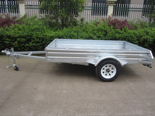 Box trailer tipping cage trailer with mesh cage