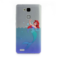 For Haiwei Mate7 ultra thin tpu soft case 0.3mm cover for Ascend P7 P6 rongyao6 sea maid fish design