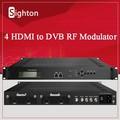 Modulador rf tv ; hdmi / sdi entrada 4 programas codificador modulador